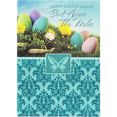 Rosedale (39370) Easter Greeting Card, Happy Easter Wishes, 12/Pack