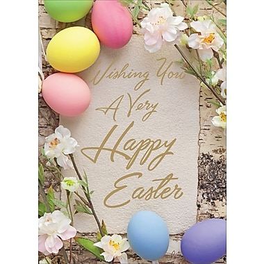 Rosedale (39380) Easter Greeting Card, Wishing You a Very.., 12/Pack