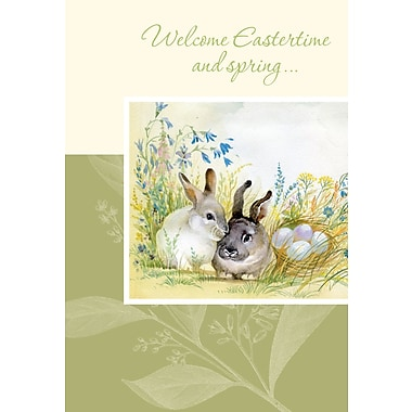 Rosedale (39383) Easter Greeting Card, Welcome Eastertime, 12/Pack