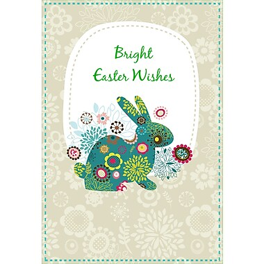 Rosedale (39384) Easter Greeting Card, Bright Easter Wishes, 12/Pack