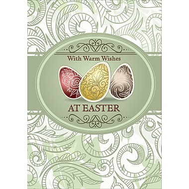 Rosedale (39387) Easter Greeting Card, Wish Warm Wishes, 12/Pack