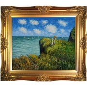 Tori Home Cliff Walk at Pourville by Claude Monet Framed Painting