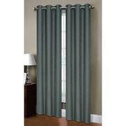 Bella Luna Henley Solid Semi-Sheer Curtain Panels (Set of 2); Dusty Blue