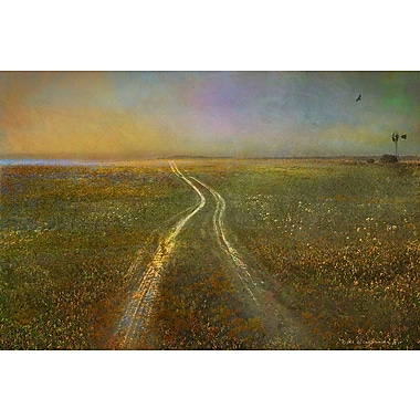 Marmont Hill 'Long Road To Horizon' by Chris Vest Painting Print on Wrapped Canvas; 40'' H x 60'' W