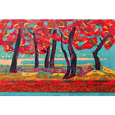 Marmont Hill 'Autumn Grove' by Lisa Mee Painting Print on Wrapped Canvas; 20'' H x 30'' W