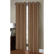 Bella Luna Henley Solid Semi-Sheer Curtain Panels (Set of 2); Taupe