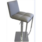 Bellini Modern Living Milano Adjustable Height Swivel Bar Stool; Silver
