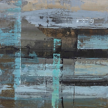 Marmont Hill 'Urban Construct I' by Julie Joy Painting Print on Wrapped Canvas; 24'' H x 24'' W