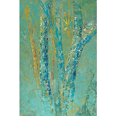 Marmont Hill 'Tree Mist One' by Julie Joy Painting Print on Wrapped Canvas; 36'' H x 24'' W
