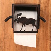 Coast Lamp Mfg. Moose Wall Mounted Toilet Paper Box Holder