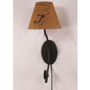 Coast Lamp Mfg. Fishing Pole 1-Light Plug-In Wallchiere