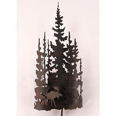 Coast Lamp Mfg. Moose and Tree 1-Light Wall Sconce
