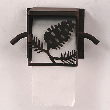 Coast Lamp Mfg. Pine Cone Wall Mounted Toilet Paper Box