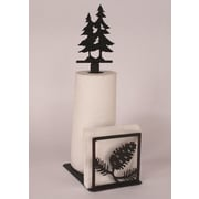 Coast Lamp Mfg. Pine Cone Paper Towel and Napkin Holder w/ Pine Tree Topper