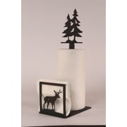 Coast Lamp Mfg. Deer Paper Towel and Napkin Holder w/ Pine Tree Topper