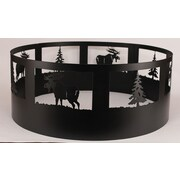 Coast Lamp Mfg. Moose Steel Charcoal Fire ring