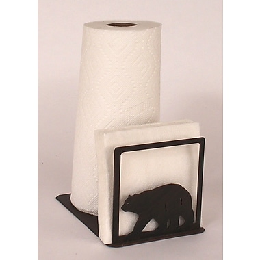 Coast Lamp Mfg. Bear Paper Towel and Napkin Holder