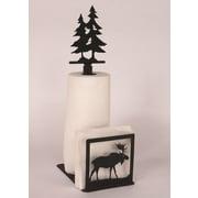 Coast Lamp Mfg. Moose Paper Towel and Napkin Holder w/ Pine Tree Holder