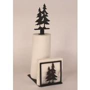 Coast Lamp Mfg. Pine Tree Paper Towel and Napkin Holder w/ Pine Tree Topper