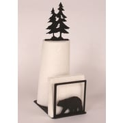Coast Lamp Mfg. Bear Paper Towel and Napkin Holder w/ Pine Tree Topper