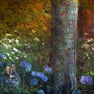 Marmont Hill 'Forest Bunny' by Chris Vest Painting Print on Wrapped Canvas; 32'' H x 32'' W