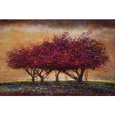 Marmont Hill 'Crabapple Blossoms' by Chris Vest Painting Print on Wrapped Canvas; 30'' H x 45'' W
