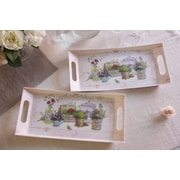Shall Housewares 14''MELAMINE SERVING TRAY (Set of 2); 2'' H x 16'' W x 11'' D