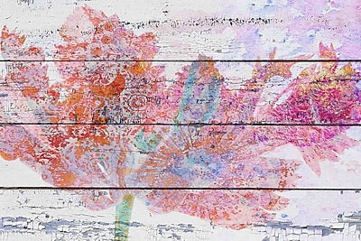 Marmont Hill 'Floral Vintage' by Irena Orlov Painting Print on Wrapped Canvas; 16'' H x 24'' W