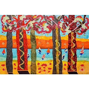 Marmont Hill 'Idyllic Series 3' by Lisa Mee Painting Print on Wrapped Canvas; 12'' H x 18'' W