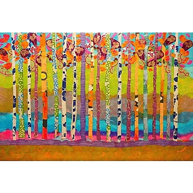 Marmont Hill 'Blooming Birch Trees' by Lisa Mee Painting Print on Wrapped Canvas; 20'' H x 30'' W