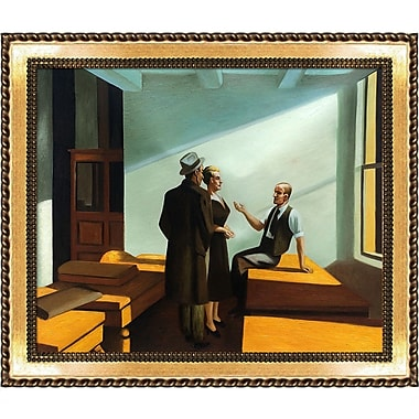La Pastiche 'Conference at Night, 1949' by Edward Hopper Framed Painting Print