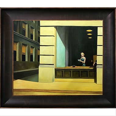 La Pastiche New York Office 1962 By Edward Hopper Framed Painting Print