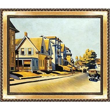 La Pastiche 'Street Scene, Gloucester, 1934' by Edward Hopper Framed Painting Print