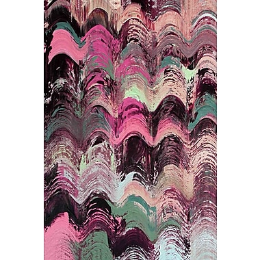 Marmont Hill 'Wavy Blends Vii' by Irena Orlov Painting Print on Wrapped Canvas; 30'' H x 20'' W