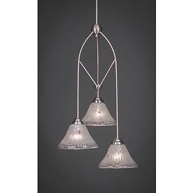 Toltec Lighting Contempo 3-Light Multi Mini Pendant w/ Hang Straight Swivel; White