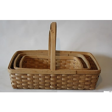 DestiDesign 3 Piece Woodchip Basket Set