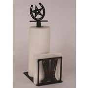 Coast Lamp Mfg. Boot Paper Towel and Napkin Holder w/ Horseshoe Topper