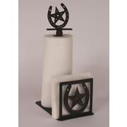 Coast Lamp Mfg. Horseshoe Paper Towel and Napkin Holder w/ Horseshoe and Star Topper