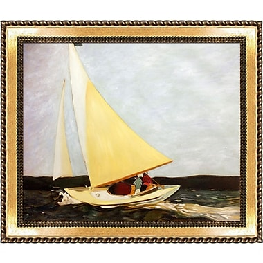 La Pastiche 'Sailing, 1911' by Edward Hopper Framed Painting Print