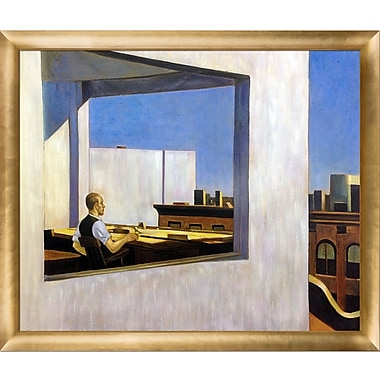 La Pastiche 'Office in a Small City, 1953' by Edward Hopper Framed Painting Print