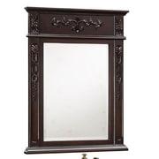 Empire Industries Verona Carved Mirror; Dark Cherry