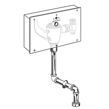 American Standard Concealed 1.0 GPF Multi-AC Urinal Wrist Blade Flush Valve w/ Top Spud