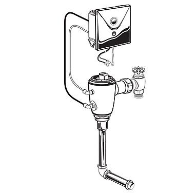 American Standard Concealed 1.0 GPF DC Urinal Flush Valve w/ Back Spud