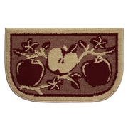Structures Textured Loop Apple Orchard Wedge Slice Kitchen Area Rug