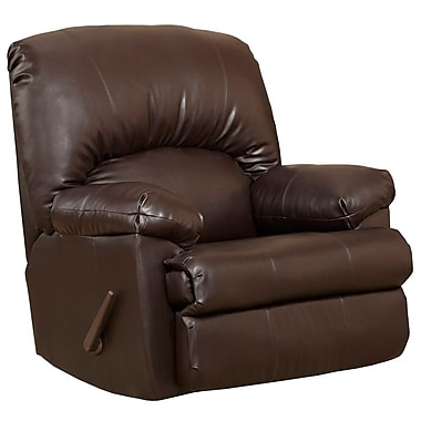 Flash Furniture – Fauteuil berçant inclinable contemporain Ty, cuir chocolat (WM8500620)