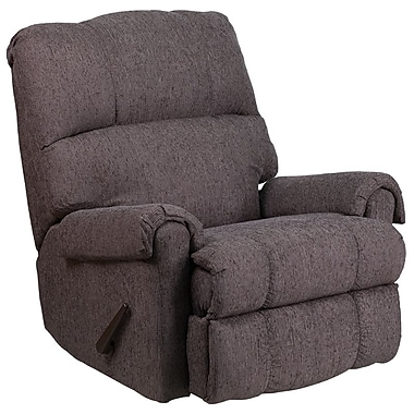 Flash Furniture – Fauteuil berçant inclinable contemporain Couger, chenille gris (WM8700543)