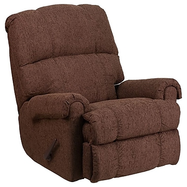 Flash Furniture – Fauteuil berçant inclinable contemporain Couger, chenille chocolat (WM8700544)