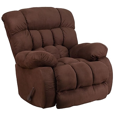Flash Furniture – Fauteuil berçant inclinable contemporain Softsuede en microfibres, fondant au chocolat (WM9200530)