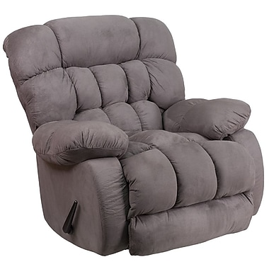 Flash Furniture – Fauteuil berçant inclinable contemporain Softsuede en microfibres, graphite (WM9200531)