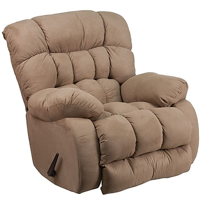 Flash Furniture Contemporary Softsuede Taupe Microfiber Rocker Recliner (WM9200532)
